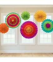 Paper Fan Set Colourful(set of 6)