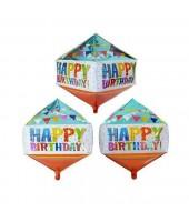 Rhombus shape ( Diamond shape ) Bday foil balloon 24''
