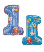 1 Blue supershape foil balloon 30''