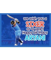 Birthday Cricket Theme Banner