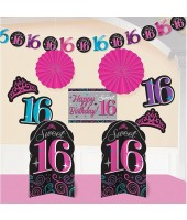 Sweet 16th Room Decorating Kit (10pcs )
