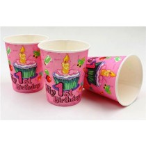 1st birthday girl cups (Set of 10)
