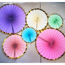 Paper Fan Set - Colorful ( Set of 6 )