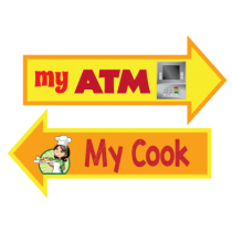 My ATM My Cook Photo Booth Prop Set of 2