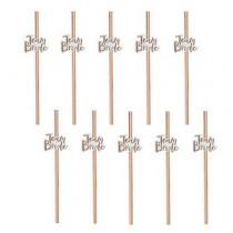 Team Bride Paper straws ( Set of 10 )