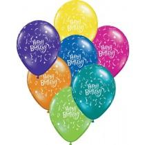 Happy Birthday latex balloons