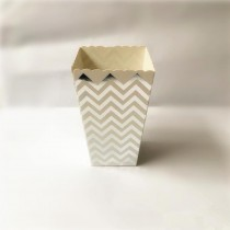 Silver Foil Printed Popcorn cups (Set of 6)
