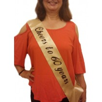 60th Birthday Sash