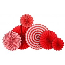 Paper Fan Set - Red