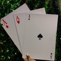Aces Card Decoration (set of 3)