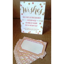 Birthday Girl Wishes Stand with Message Slips