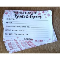 Bride & Groom Wishes Slips Set ( set of 10pcs)