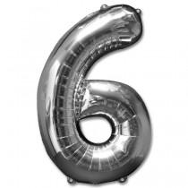 """Numeric 6 Foil Balloon 24"""""""
