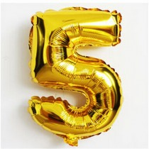 5 - Gold Foil Balloon 40 inches