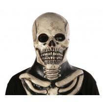 Monochrome Skull Halloween Mask - Premium Quality