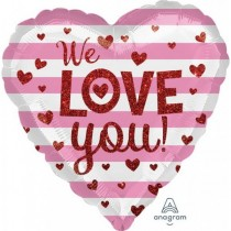 We love You 18inch heart foil