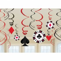 Casino Swirl Decoration ( set of 12)