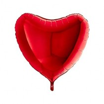 Heart Shape Red Foil Balloon