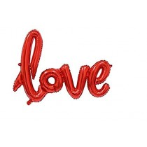 LOVE Letter Foil Balloon (Red )