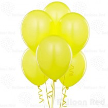 Yellow Pearl Latex Balloons -set of 10