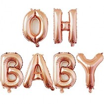 Foil Balloon Letters - Oh Baby
