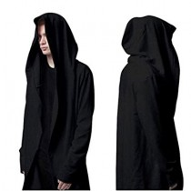 Black Hooded Robe for Halloween