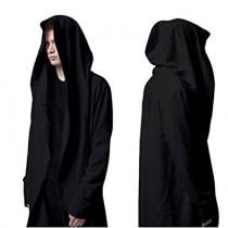Black Hooded Robe For Halloween