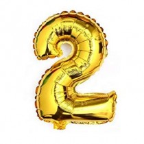 Gold  Numeric 2 Foil Balloon  24""