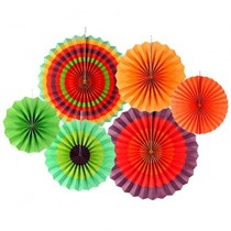 Paper Fan Set - Colourful
