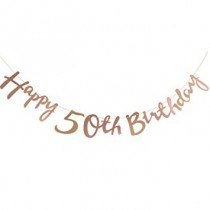 Bunting  - Cut Out Milestone 50th Birthday