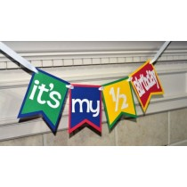 Bunting - Its My Half Bday Colorful