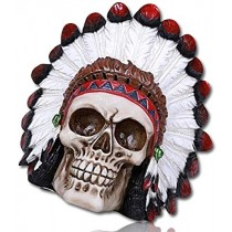 Hallowee Skull Decoration - Red Indian