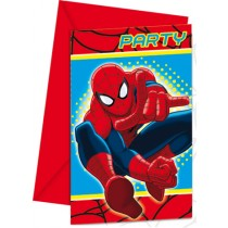 Spiderman Invitation Cards (set of 6)