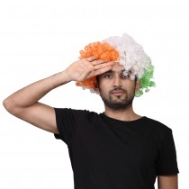 Tricolour Afro Wig