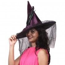 Purple Witch Cap with Net