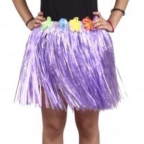 Purple Straw Hula Skirt Small