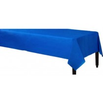 Blue Solid plastic Table Cloth