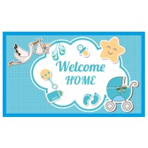 Welcome Home Banner Blue