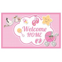 Welcome Home Banner Pink