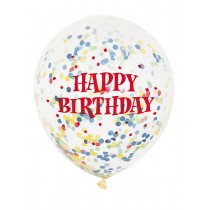 Transparent Happy  Birthday Balloons (Set of 10)