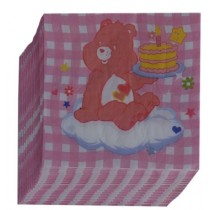 Pink Bear  Napkins (Set of 20)