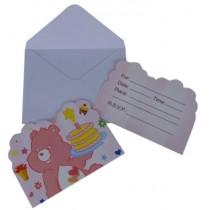 Pink Bear  Invitation Card (Set of 8)