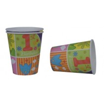 1st  Birthday  Cups (Set of 8)