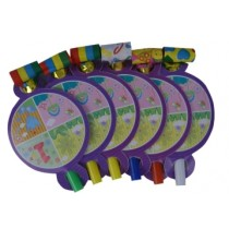 1st  Birthday  Blow outs (Set of 6)