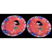 Hawaiian party  Plates (Set of 8)