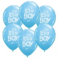 It's a Boy latex balloons