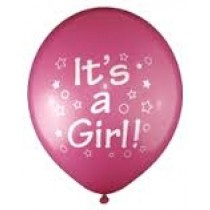 It's A Girl Latex Balloons