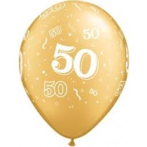 """50th Gold Balloons (14"""")"""
