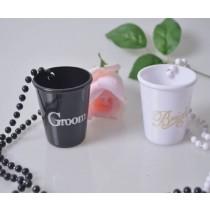 Bride Groom Shot Glass Set