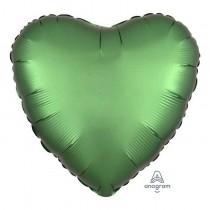 Heart Shape Satin Green Foil Balloon